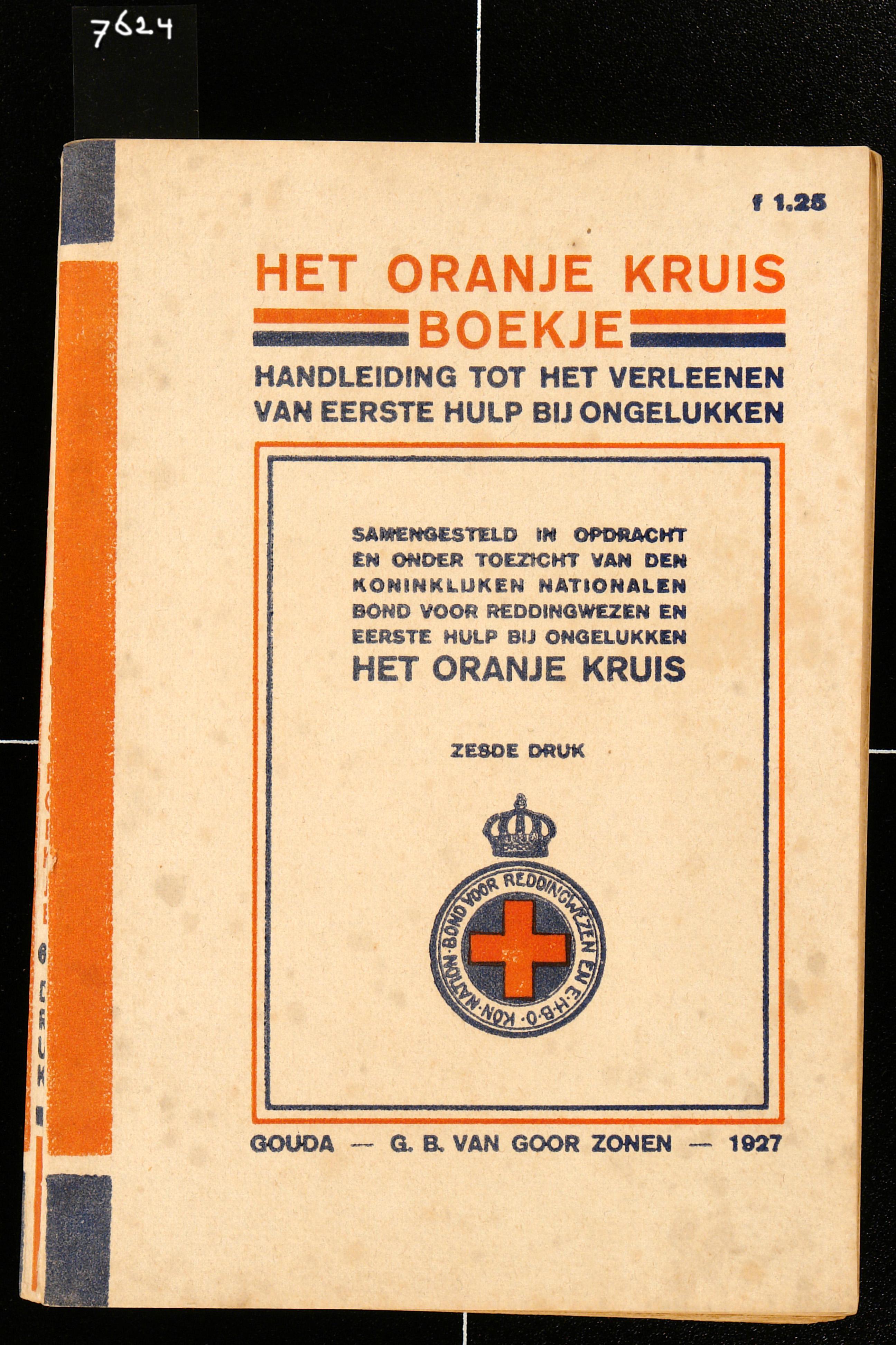 Boek. Oranje kruisboek, 1927